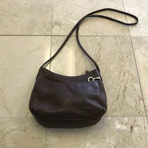 Fossil Crossbody Small Leather Purse Brown Color